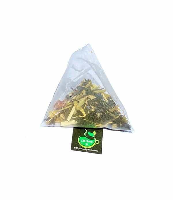 Thé au CBD de chez CBDISSIMO. on le trouve dans des sachets individualisés.