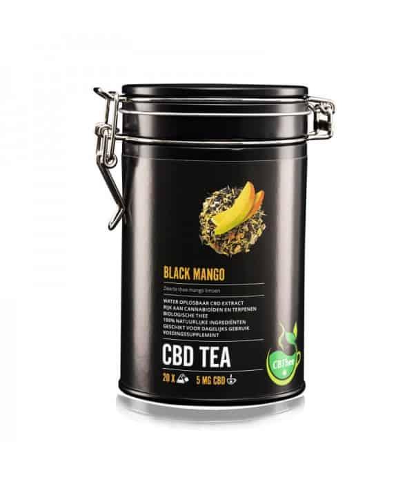 CBD TEA Black Mango, le thé au CBD de CBDISSIMO.