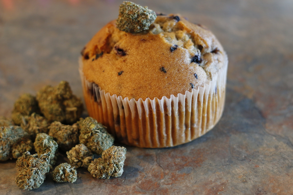 Muffin au cannabis cannabidiol CBD