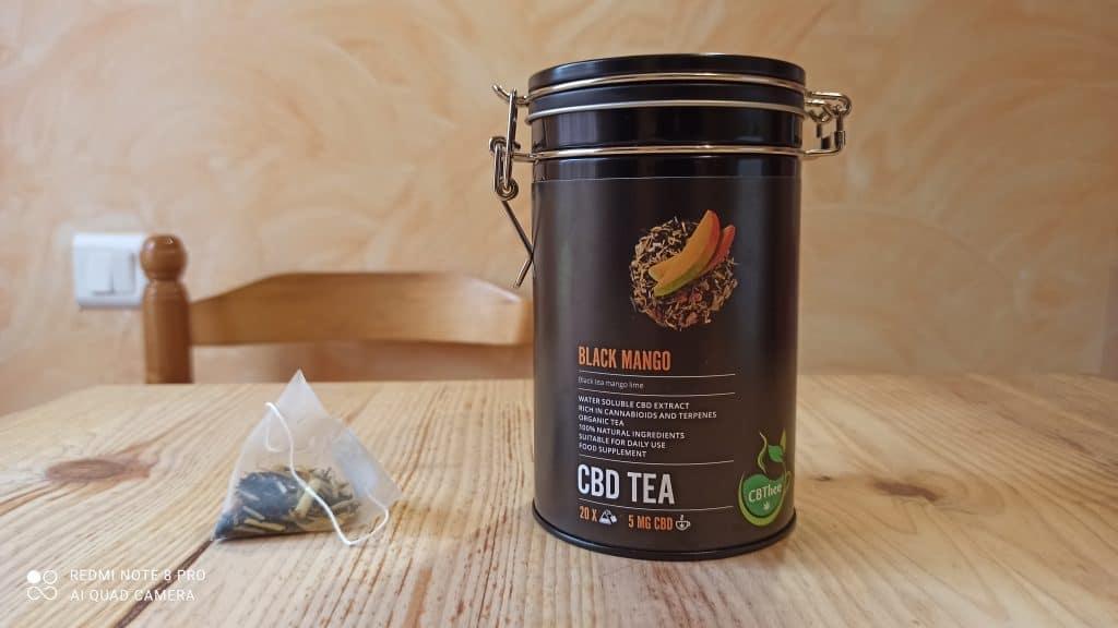 "Alternative au thé au cbd, l'infusion au CBD ""black mango"""